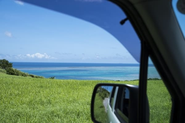 レンタカーからの風景