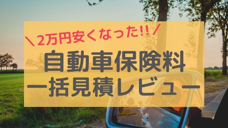 自動車保険安くしたい