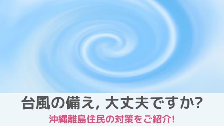 沖縄の台風の備え