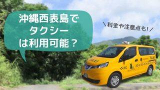 西表島タクシー料金と予約