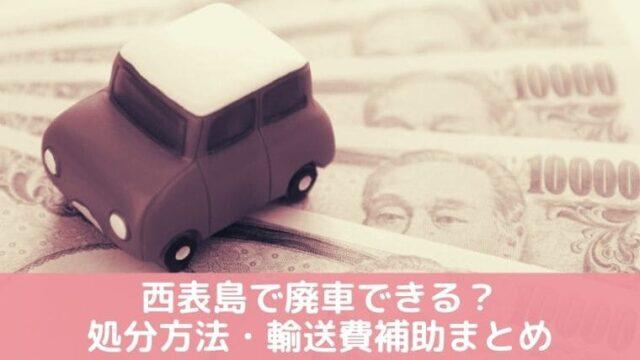 竹富町廃車補助